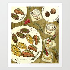 Holiday Hors D'oeuvre Art Print