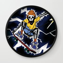 Wicked Electrocuted Skeleton Boy Wall Clock