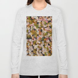 Abstract Paint Strokes - Beige and Light Tan Long Sleeve T-shirt