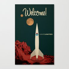 MarsUnited Welcome Canvas Print