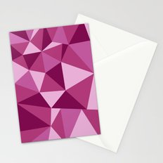 Pink Geometric Stationery Cards