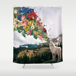 scream for help Shower Curtain