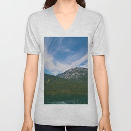 The Way to Valhalla - Lake Slocan, BC, Canada Unisex V-Neck