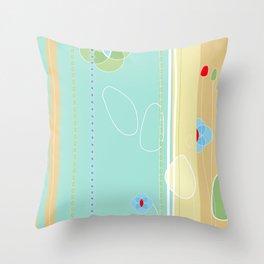 izzy may's garden Throw Pillow