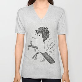 Sitting On A Tree Unisex V-Neck