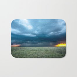 Regeneration - Storm Strengthens With Amazing Color in Texas Bath Mat