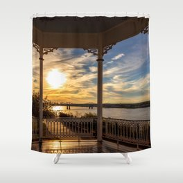 Mississippi River Gazebo Shower Curtain