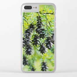 Snoqualmie Cones Clear iPhone Case