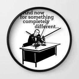 Funny Man On Desk Wall Clock