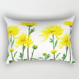 yellow chrysanthemum Rectangular Pillow