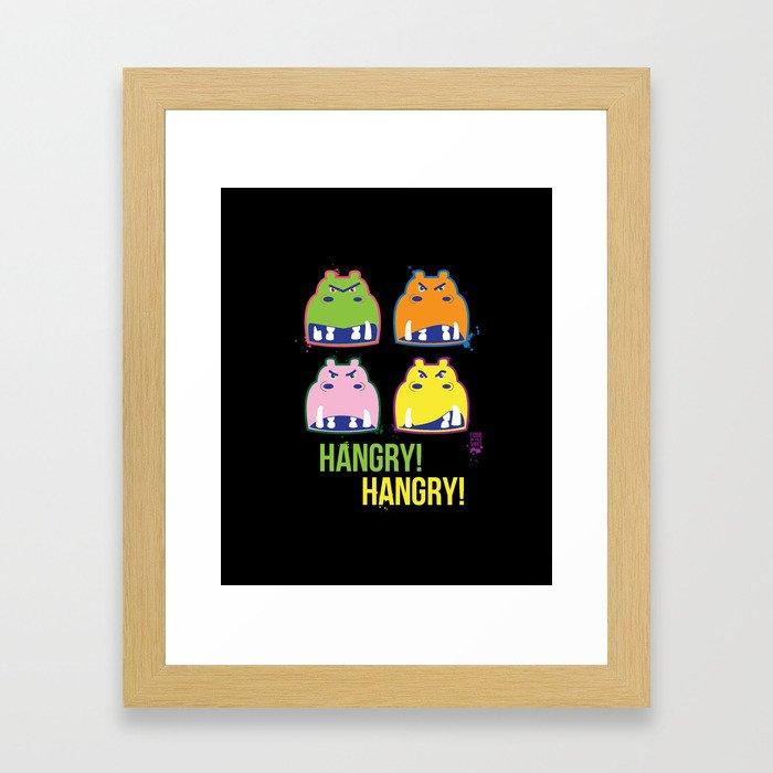 Hangry hangry Framed Art Print