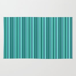 Turquoise striped . Rug