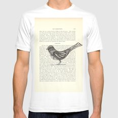 Perched MEDIUM White Mens Fitted Tee