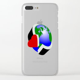 Earth Day Clear iPhone Case
