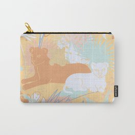 Spring Jungle Cats Carry-All Pouch