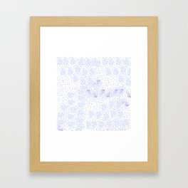 Blue circle on white Framed Art Print