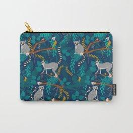 Lemurs on Blue Carry-All Pouch
