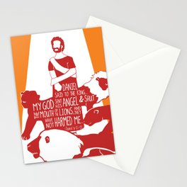 Daniel Faith Saved from Mouth of Lions (Bible Characters) Stationery Cards