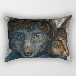 Sherlock Wolf and Dr. Rabbit Rectangular Pillow