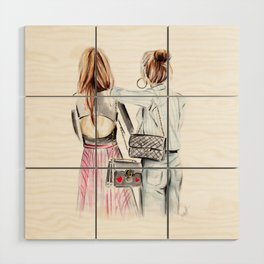 Street style girls Wood Wall Art