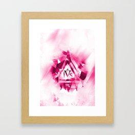iPhone 4S Print - Pink Framed Art Print