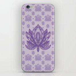 Gentle Pastel Purple  Lotus Flower iPhone Skin