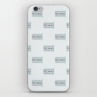 techno iPhone & iPod Skins featuring Techno by Wallpaper Disco