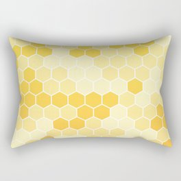 Honeycomb Yellow and Orange Geometric Pattern for Home Decor Rectangular Pillow
