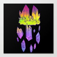 minerals Canvas Prints featuring they're minerals by HiddenStash Art
