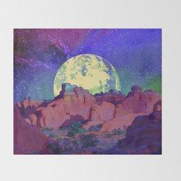 night desert landscape Throw Blanket