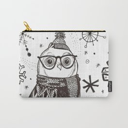 Cold Winter Owl Carry-All Pouch