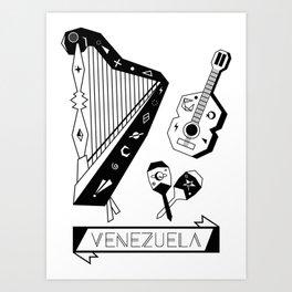 Venezuelan Tipical Music Instruments Art Print