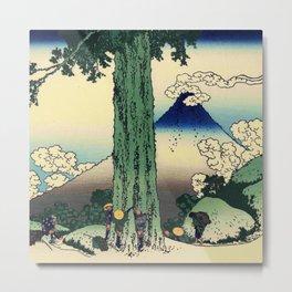 Hokusai -36 views of the Fuji 16 Mishima pass in Kai province Metal Print