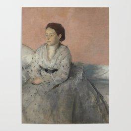 Portrait of Madame René de Gas Poster