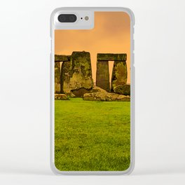 The Standing Stones - Stonehenge Clear iPhone Case