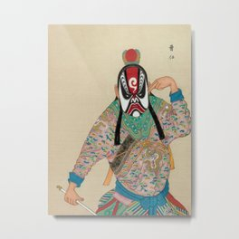 Peking (Beijing) Opera Figure Metal Print