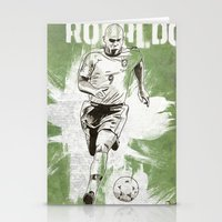 ronaldo Stationery Cards featuring Ronaldo by Renato Cunha