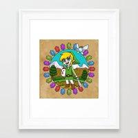 hyrule Framed Art Prints featuring Hyrule Adventurer by Crimson Pumpkin