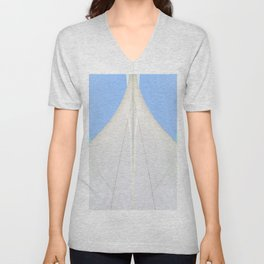 Abstract Sailcloth c2 Unisex V-Neck
