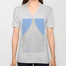 Abstract Sailcloth c2 Unisex V-Neck