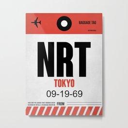 NRT Tokyo Luggage Tag 1 Metal Print