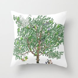 BB&PPINC Tree Print Throw Pillow