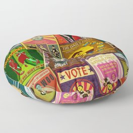 The Good News - Retro Posters Floor Pillow