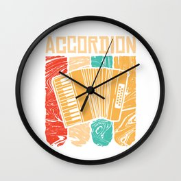 Accordion Concertina Melodeon Piano Accordion Gift Wall Clock