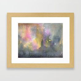 Paris in the Rain Framed Art Print