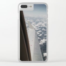 Marshmallow Clouds II Clear iPhone Case