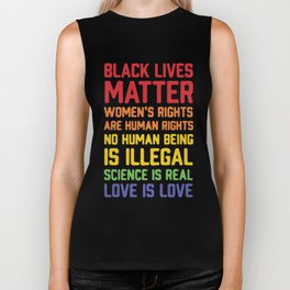 black lives matter-women is rights are human rights Biker Tank