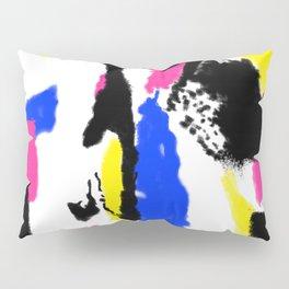 Abstract Splash in White Pillow Sham