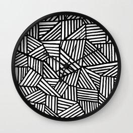 Black Brushstrokes Wall Clock