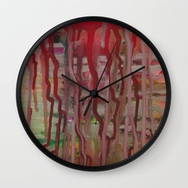 Running Away Alcohol Ink Painting by Kaytiebug of Katty Candles and Jewelry Wall Clock